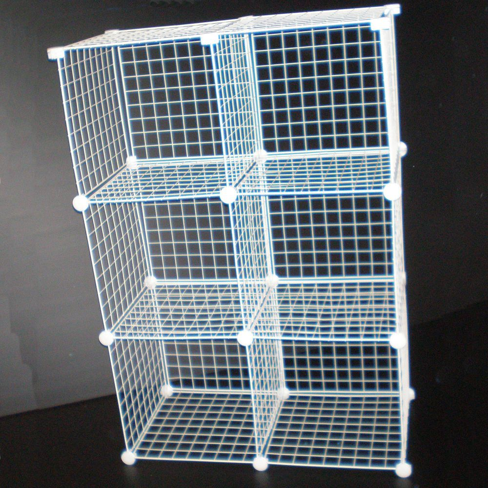Grid Wire Modular Shelving And Storage Cubes Wire Shelving