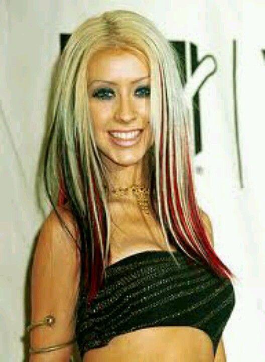 Blonde Red Black Christina Aguilera Hair Hair Streaks Hair Styles