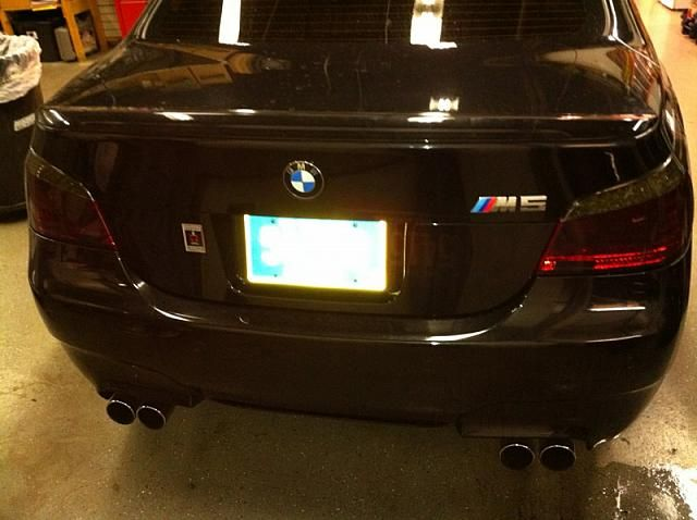 2007 Bmw M5 Taillight Tint After We Ve Tinted The Rear Tail