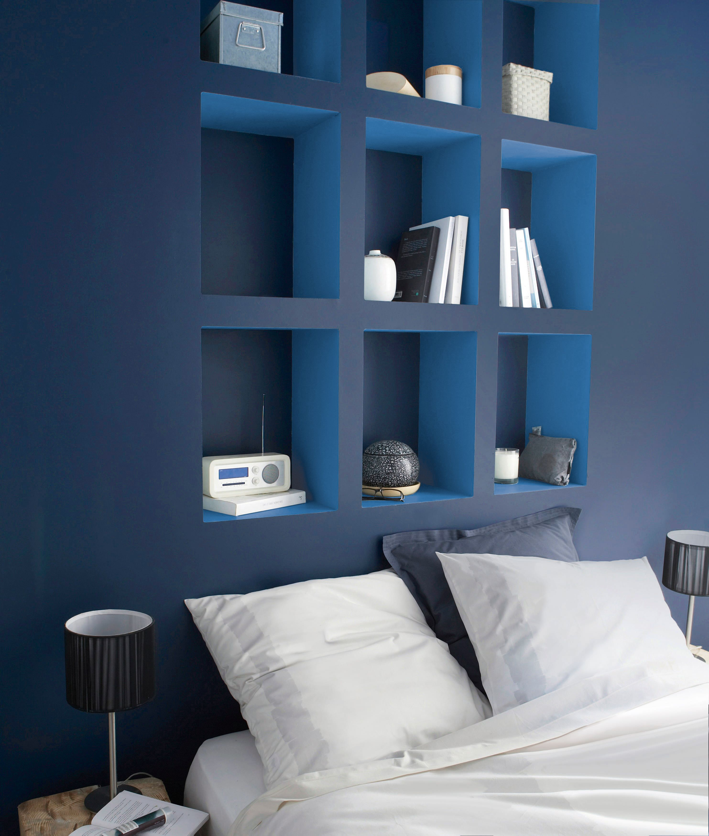Create a striking feature wall with this Colours Any Room & Surface matt  paint in Nirvana