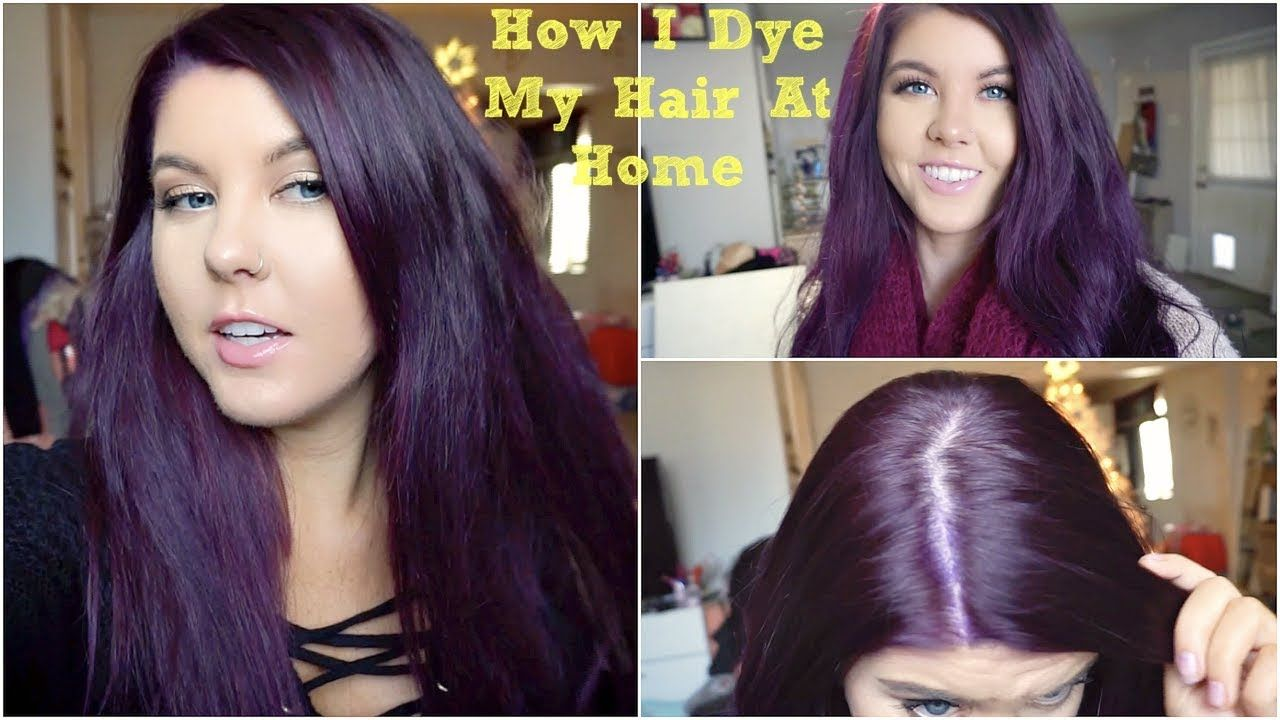 How I Dye My Hair Purple Without Bleach Vlog Dark Hair Dye