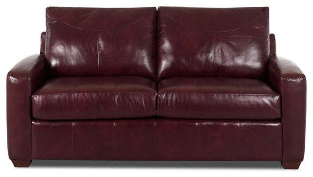 Elegant Contemporary Sofa Beds Called Boulder Leather Full Sleeper