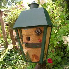 nichoir oiseaux m sanges original bird house cabane oiseaux des jardins prendre la plume. Black Bedroom Furniture Sets. Home Design Ideas