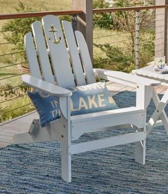L L Bean L L Bean Wooden Adirondack Chair Anchor Cutout Wooden