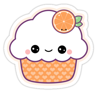 Cute orange cupcake stickers by sugarhai redbubble