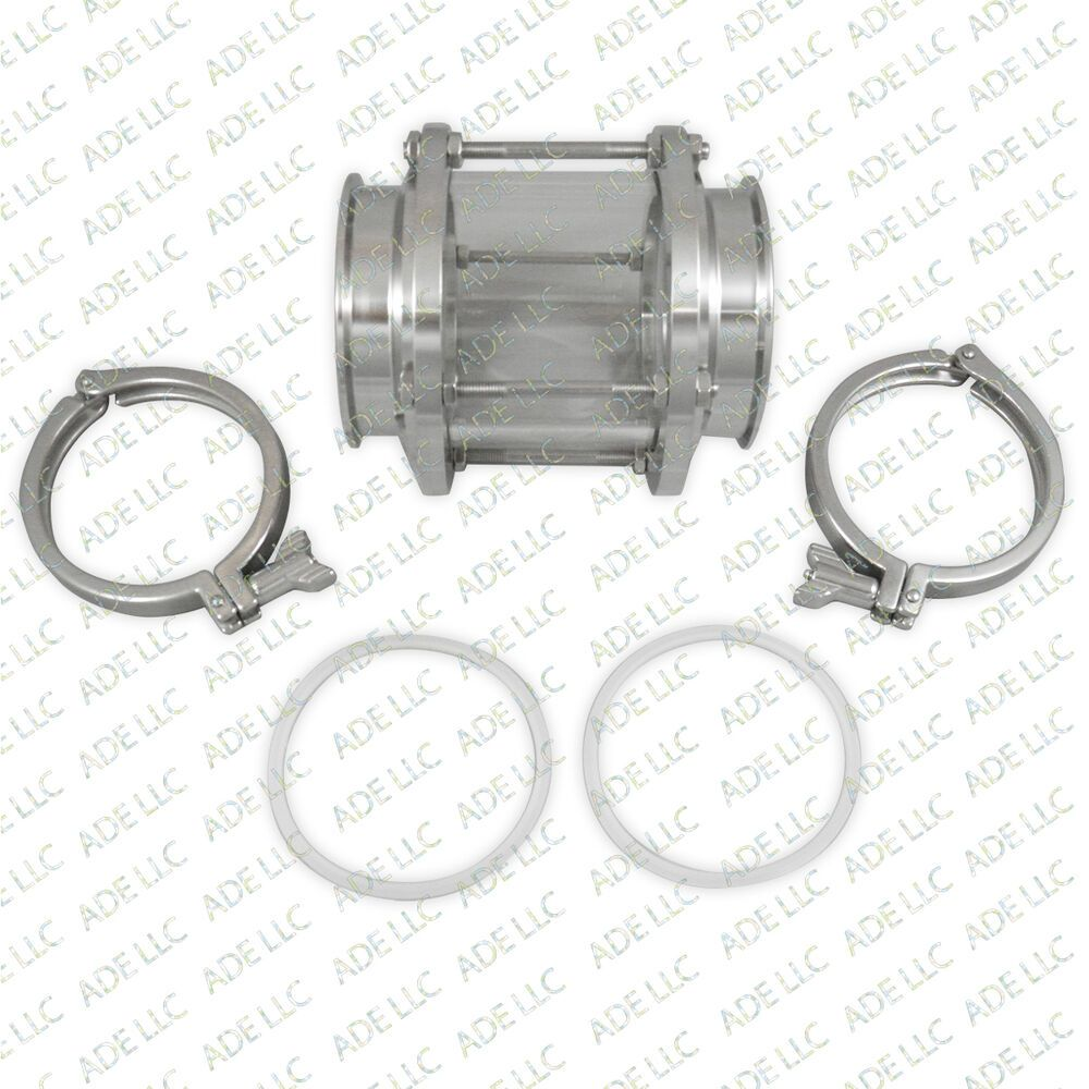 Details About 4 Borosilicate Tri Clamp Sight Glass With Gaskets And Tri Clamps Borosilicate Clamps Clamp