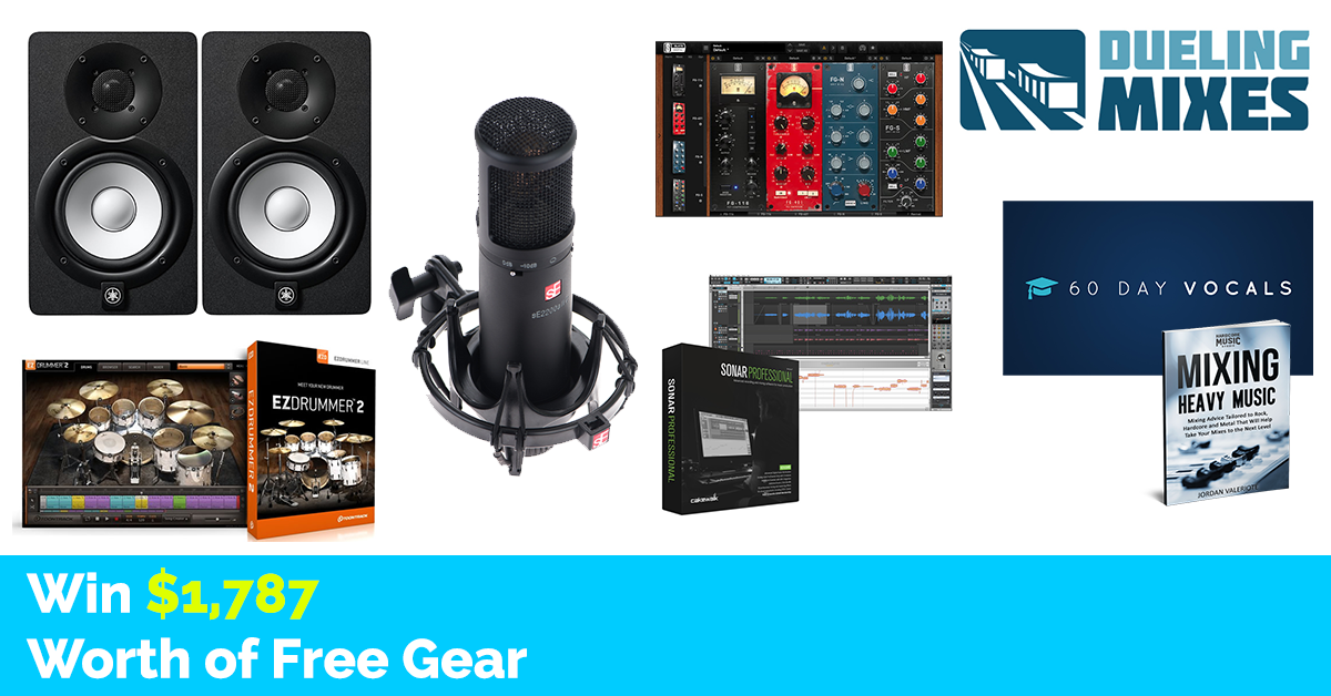 Music recording equipment giveaways