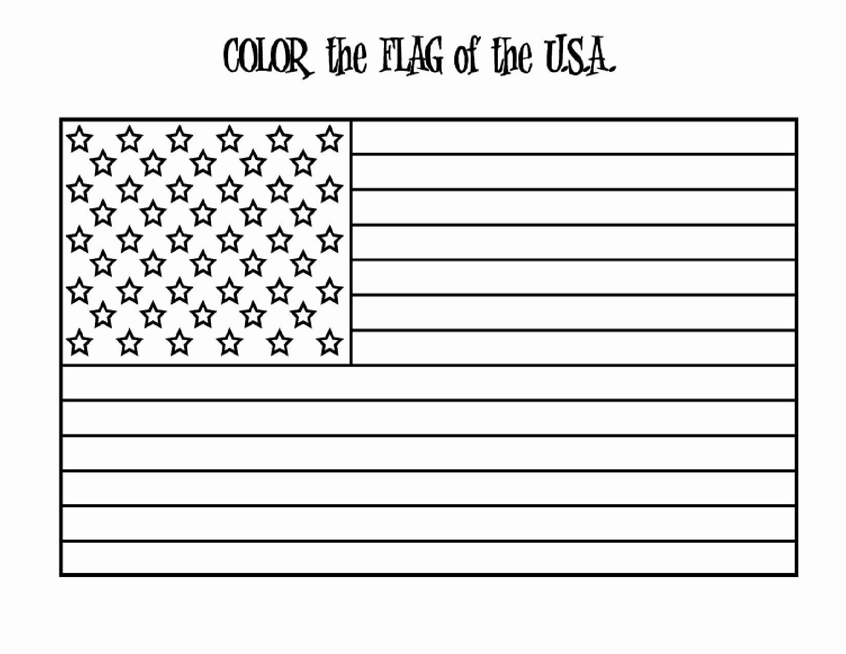 American Flag Printable Coloring Page In