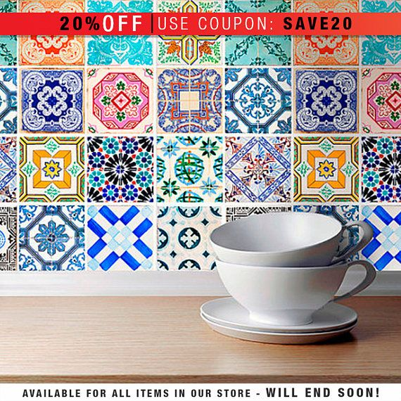 Traditional spanish tiles stickers tiles decals tiles for Stickers azulejos cocina