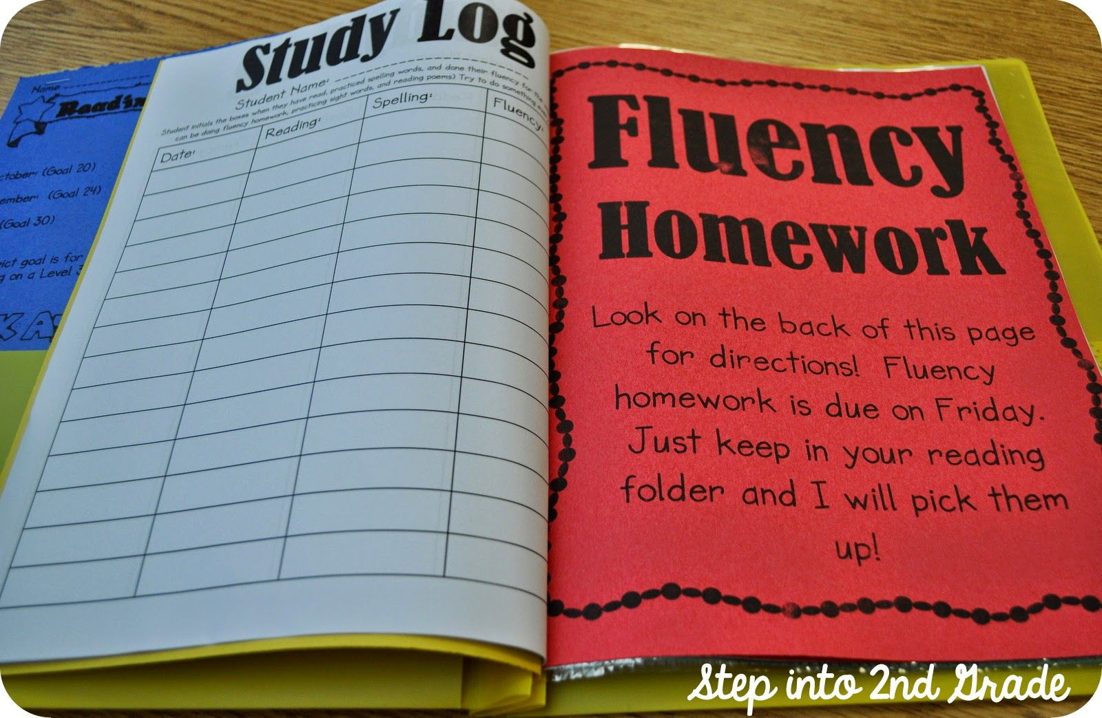 Step Into 2nd Grade With Mrs Lemons Fluency Folders