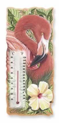 Pink Flamingo Bay Ceramic Thermometer - 834-26
