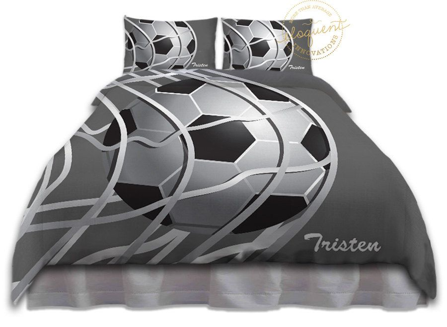 Soccer Ball Comforter Sets Bedding Grey Amp White Soccer