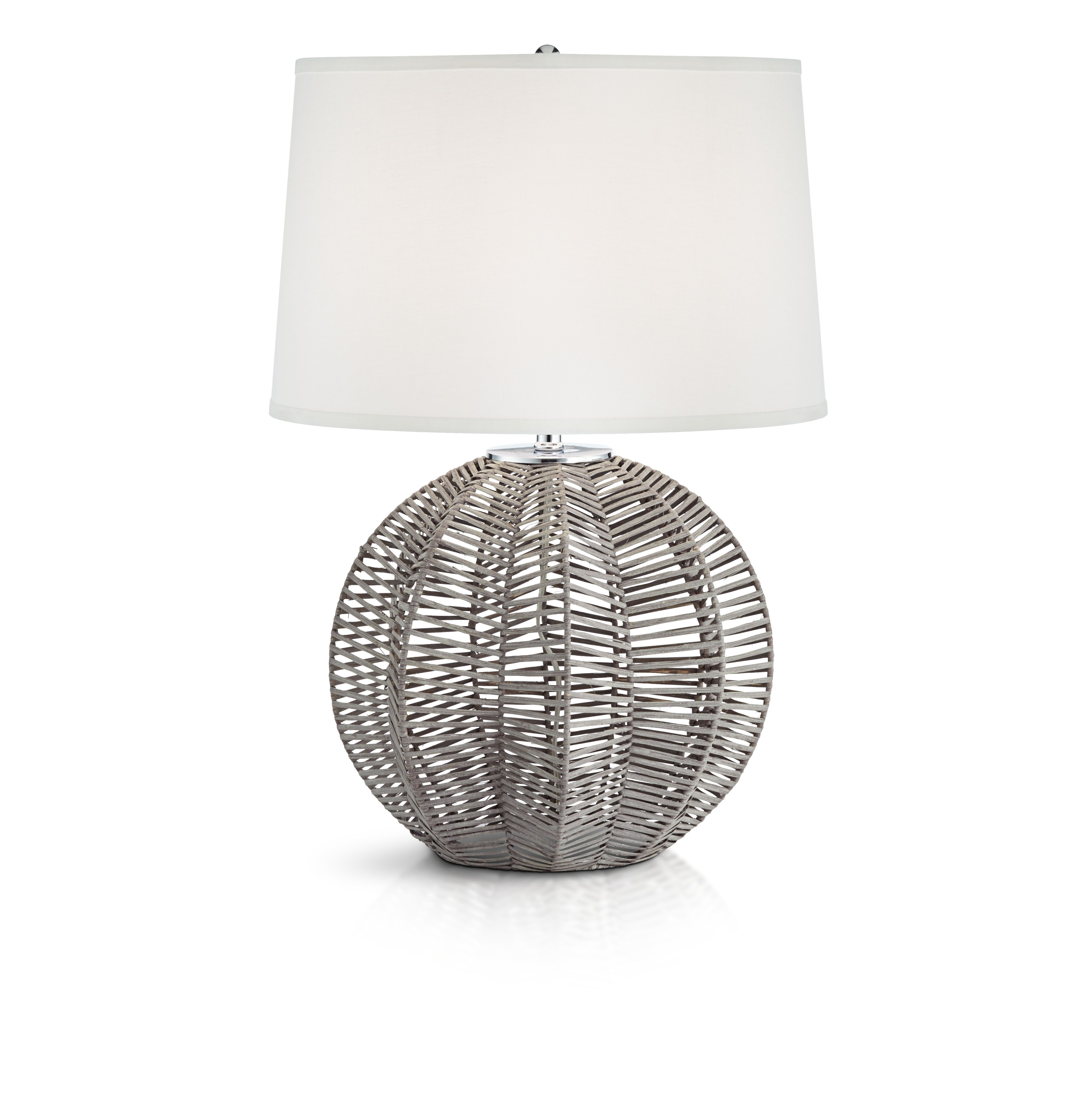 Casual inspired table lamp.  #casual #casualstyle #casualdecor #casualhome #natural #rattan #gray #lighting #lamps #home #homedecor #homedecorating #bedroom #bedroomdecor #livingroom #livingroomdecor #interiordesign #interiorinspiration