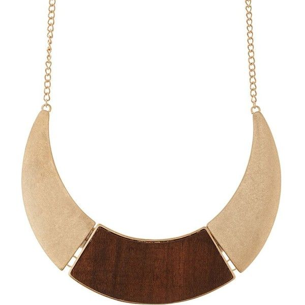 Charlotte Russe Gold Wood & Metal Collar Necklace by Charlotte Russe... ($6) ❤ liked on Polyvore featuring jewelry, necklaces, gold, collar necklace, yellow gold chain necklace, collar jewelry, gold chain jewelry and gold jewellery