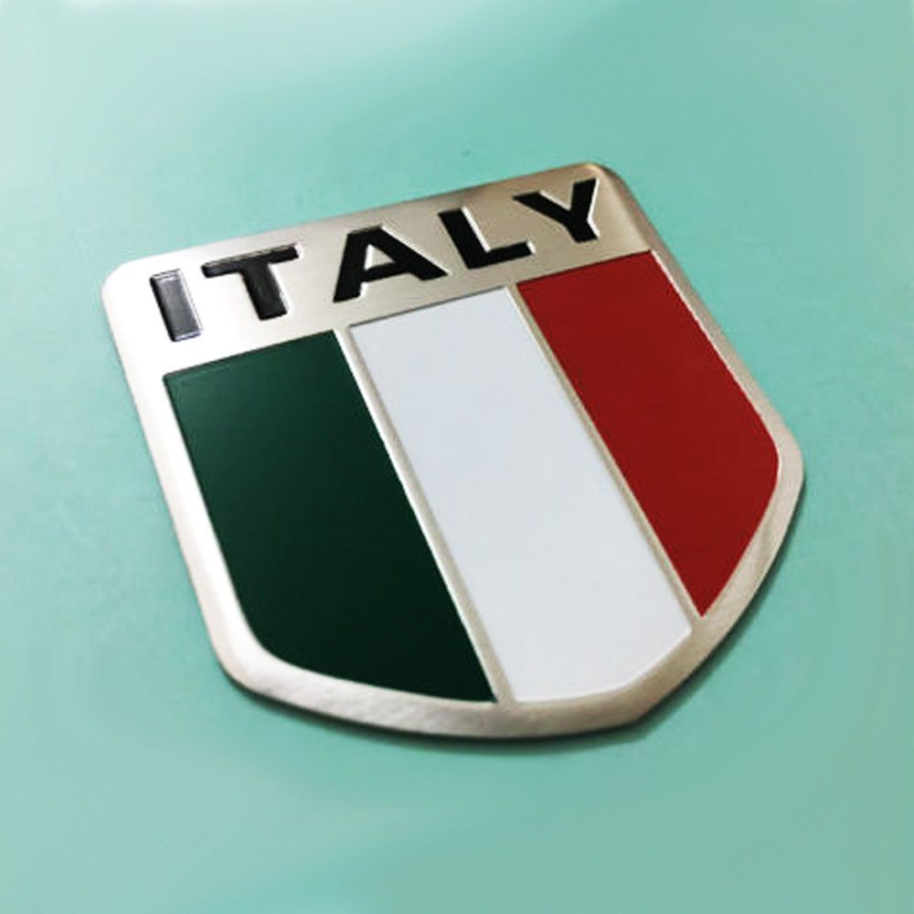 Italy Italian Flag Logo Emblem Badge Car Motorcycle Decorative Decor Sticker