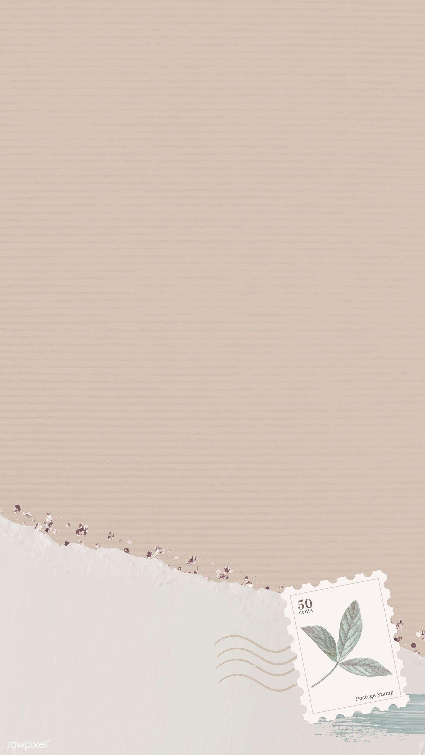 Download Premium Vector Of Beige Mobile Phone Wallpaper Vector 1215906 Paper Background Design Paper Background Texture Aesthetic Iphone Wallpaper