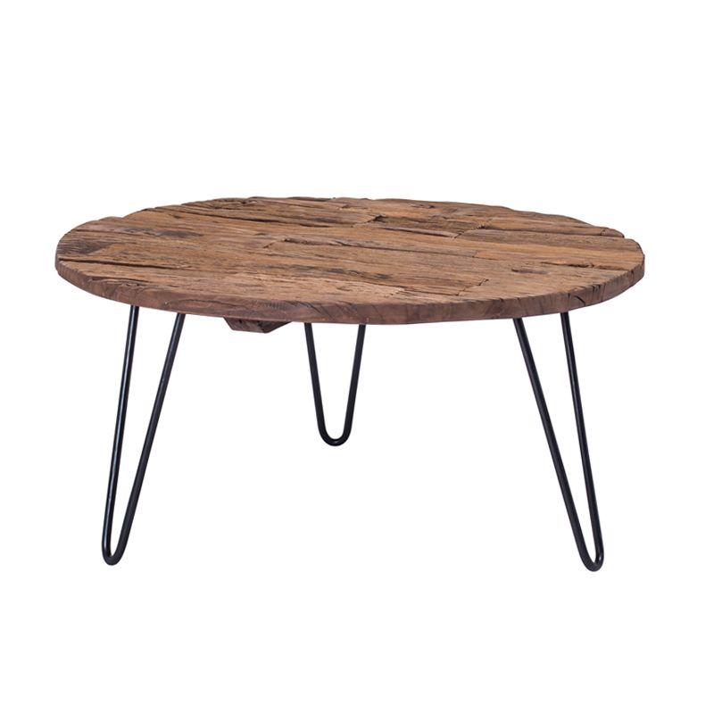 Table 80cm Iodia Pirouette Table D Appoint Plateau Bois Table