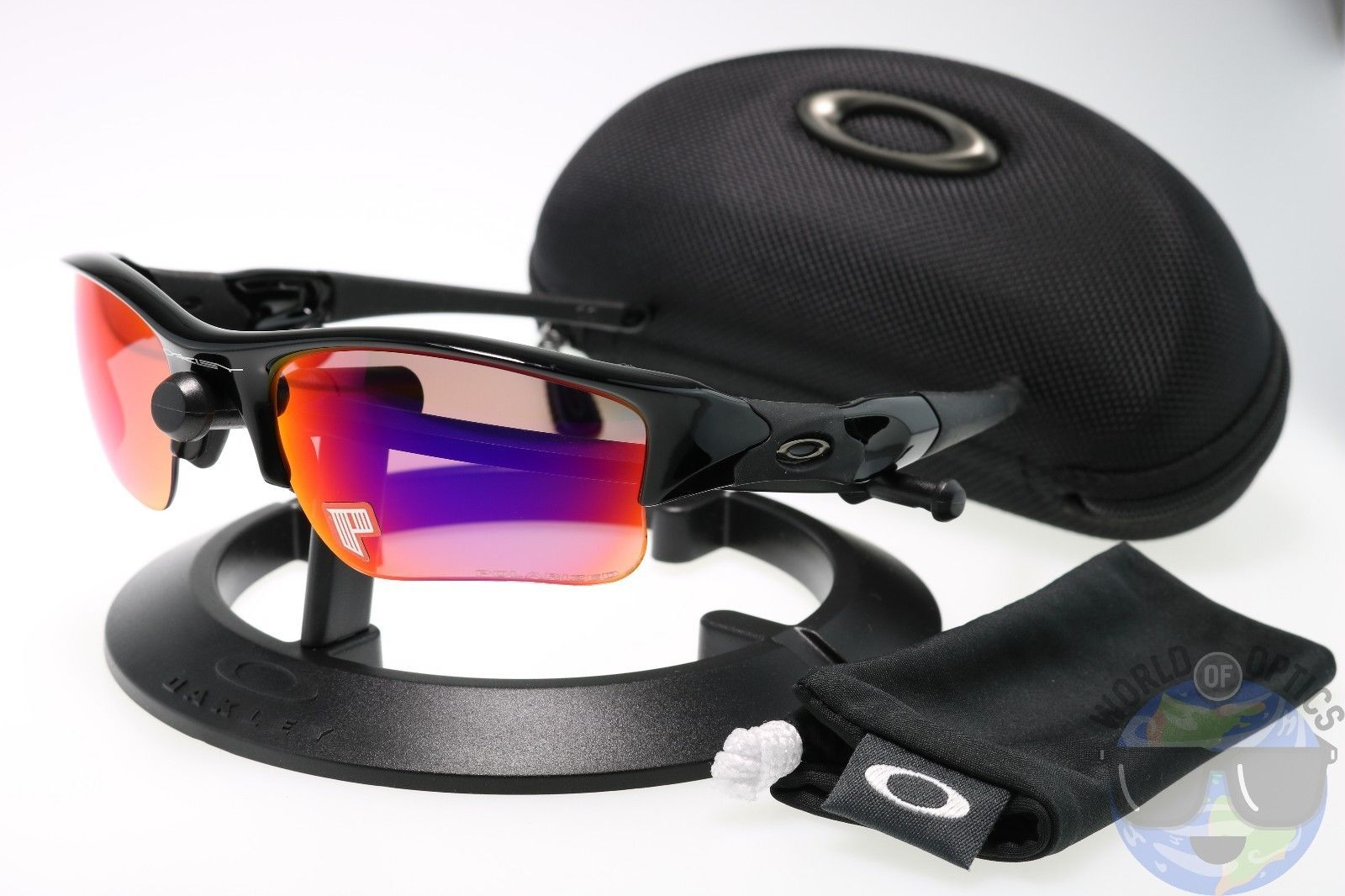 7b13d85d234 Oakley Flak Jacket XLJ Sunglasses 26-241 Polished Blk
