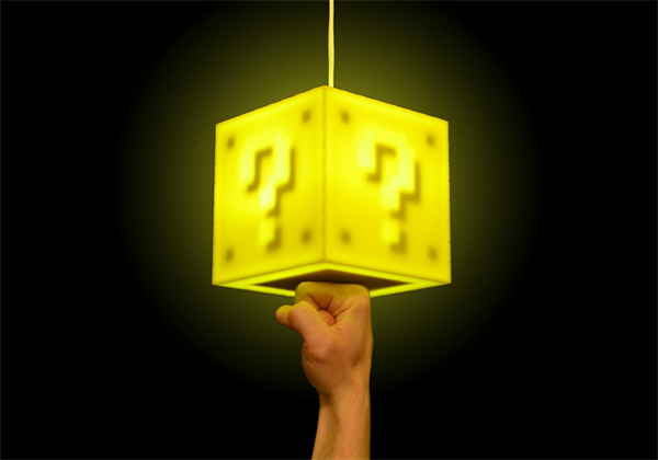 This Question Block Lamp Is 75 On Thisiswhyimbroke Gamer Room This Or That Questions Geek Stuff