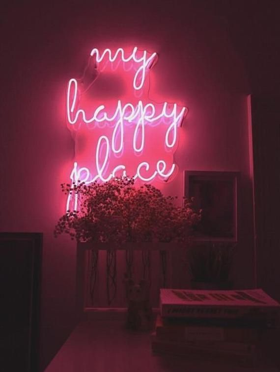 **** For Custom signs prices will differ according to your requirements such as size and design complexity ****My Happy Place Led Neon Sign-MEDIUM (68X50CM)LARGE (82X60CM)Our Neon Sign Products :- 50 000 hours of lifetime.- Non-fragile - unlike glass neon,- International safety standard- 1 year warranty.- No buzzing sound- Energy-efficient/eco-friendly How do I hang my neon sign?There are purpose built pre-drilled holes in the acrylic backing and we will provide you with the mounting kit. It's a