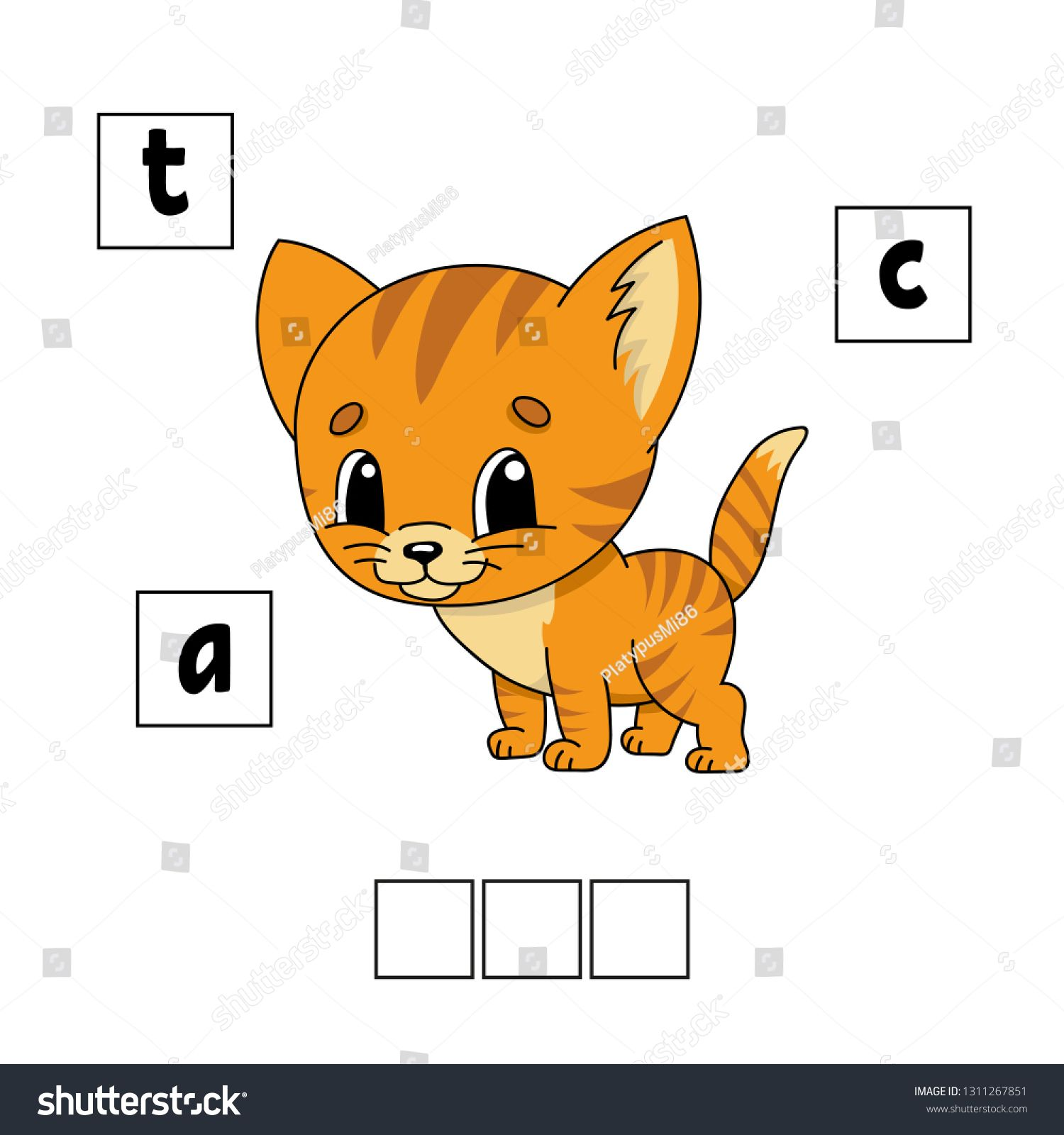 Words Puzzle Education Developing Worksheet Game For
