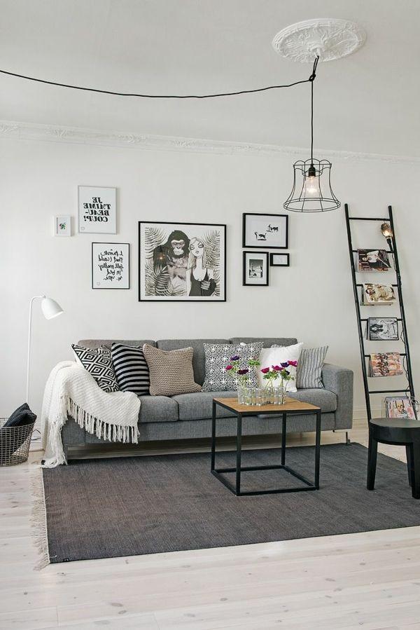 gestaltungsm glichkeiten f r wohnzimmer bilder an der wand. Black Bedroom Furniture Sets. Home Design Ideas