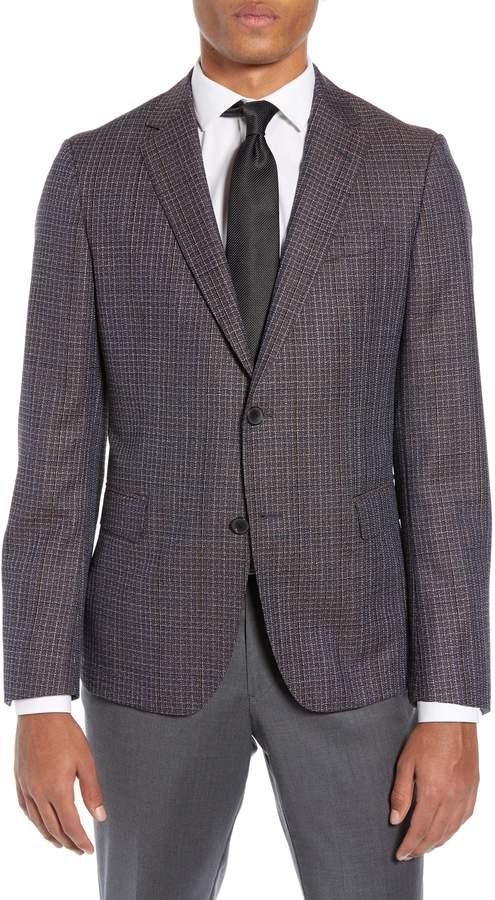 c945eb423 Men's Boss Nobis Slim Fit Check Wool Sport Coat, Size 36 R - Blue in ...
