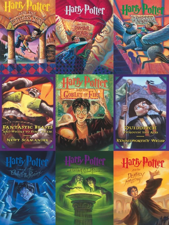 Book Cover Collage Harry Potter Book Covers Harry Potter Books Series Harry Potter Illustrations