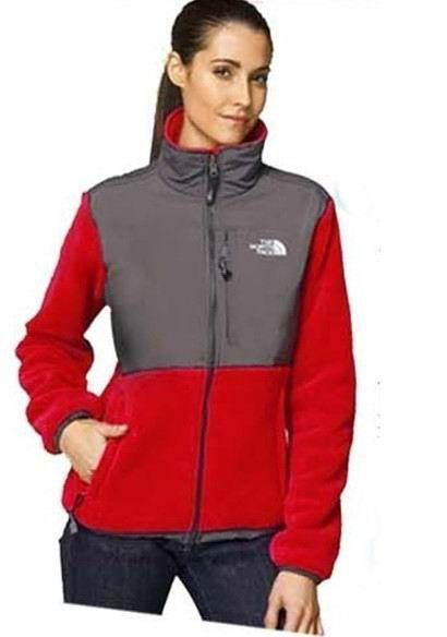 22ffd5b30758 North Face Womens Denali Fleece Jacket TNF Red