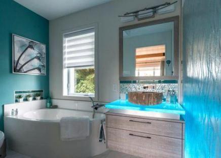 48+ ideas bathroom lighting classic bathtubs | blue
