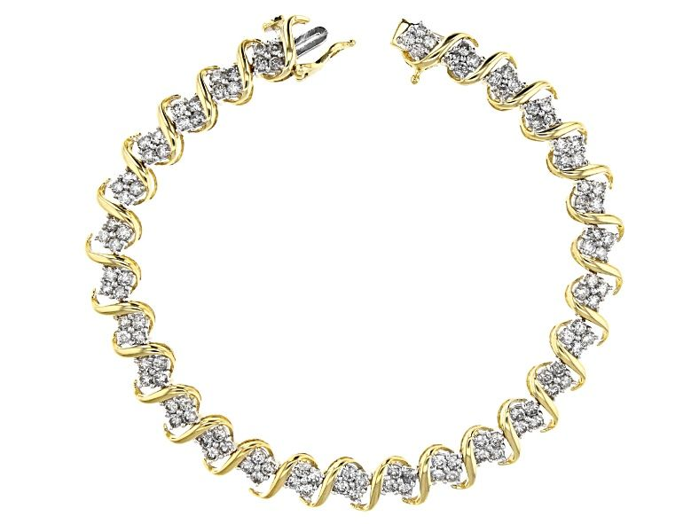 Diamond 10k Yellow Gold Bracelet 4 00ctw Cdg343 Yellow Gold Bracelet Gold Bracelet Diamond