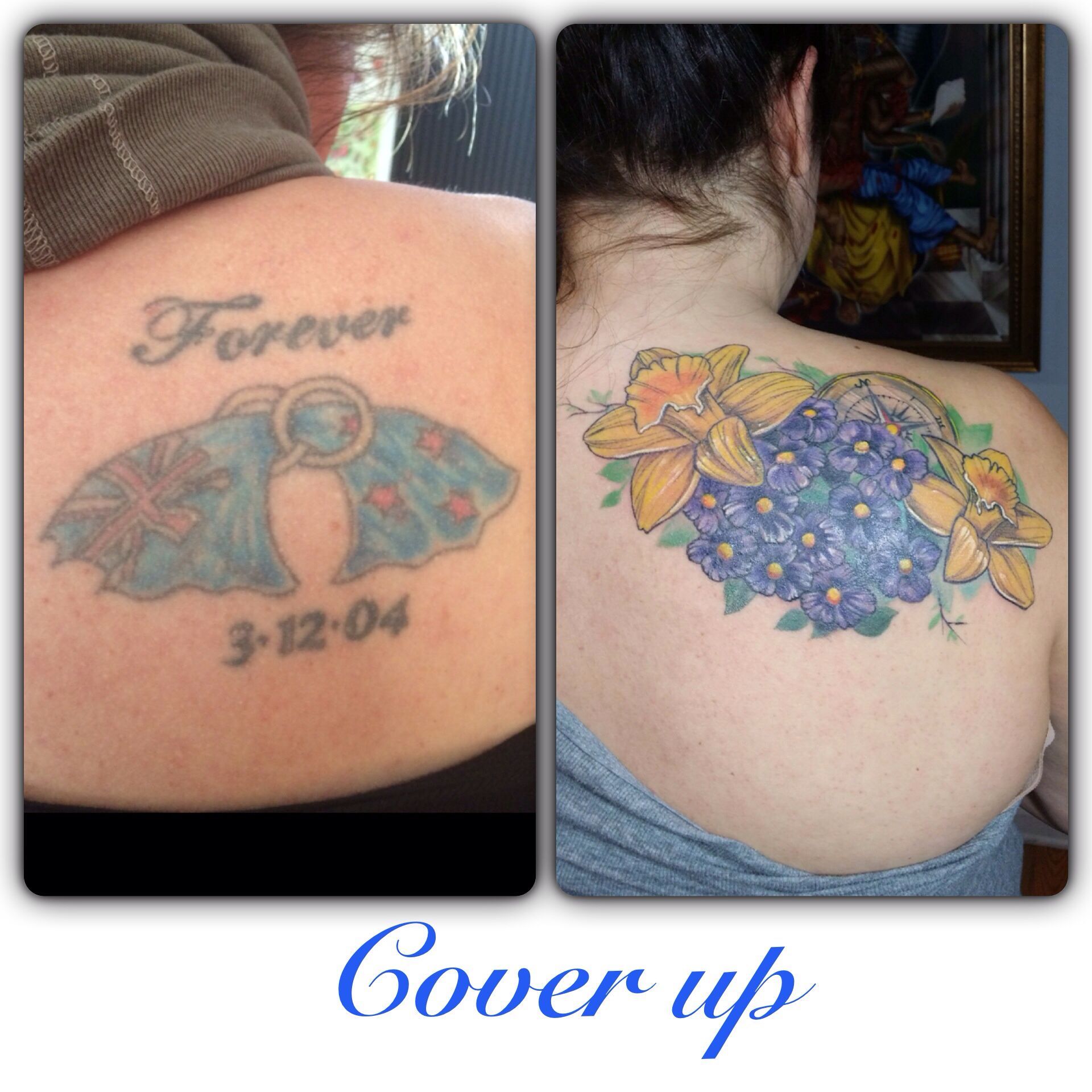 55 Cover Up Tattoos Impressive Before After Photos: Before And After Pictures Of A Cover-up Completely Healed