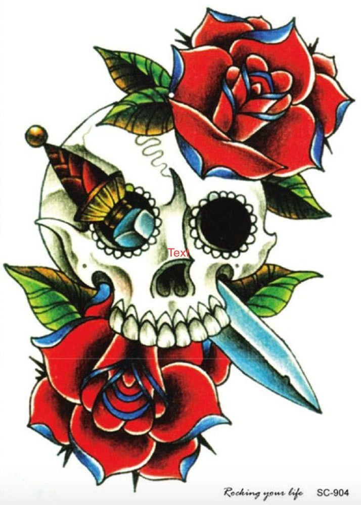 3ff197e2c59a6 Temporary Tattoo Sleeve, Tattoo Sleeve, Skull Roses, Body Art, Arm Sleeve,  Tattoos for Women,Designs Ideas Ink Fake Floral Flower Tatoo Punk