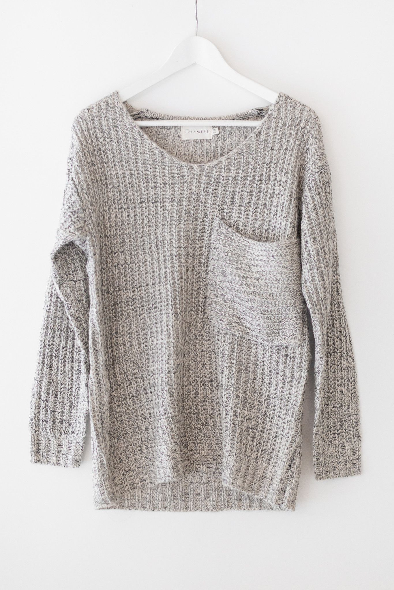 Multi colored knitted sweater with an oversized fit and a large ...