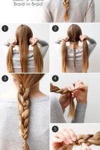 Como realizar este peinado: Una simple y bella trenza