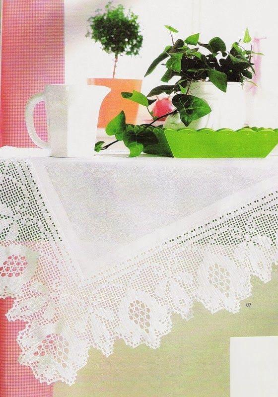 TRICO y CROCHET-madona-mía: Manteles de Crochet y Tela con patrones ...