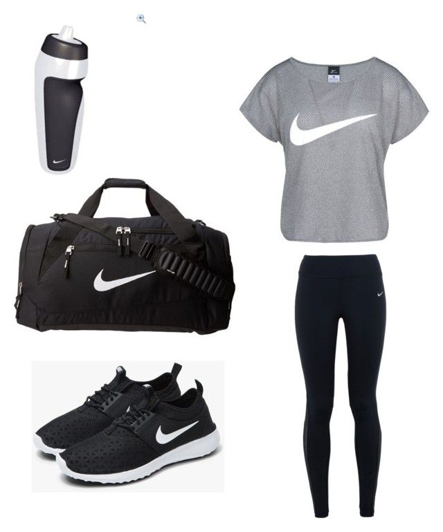 """""""Workout outfit"""" by sheisgaby ❤ liked on Polyvore featuring NIKE"""