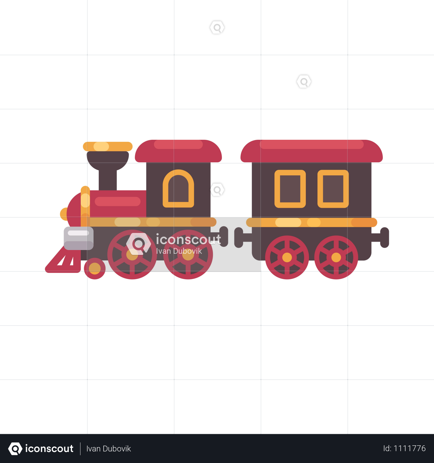 Premium Toy Train Illustration Download In PNG & Vector