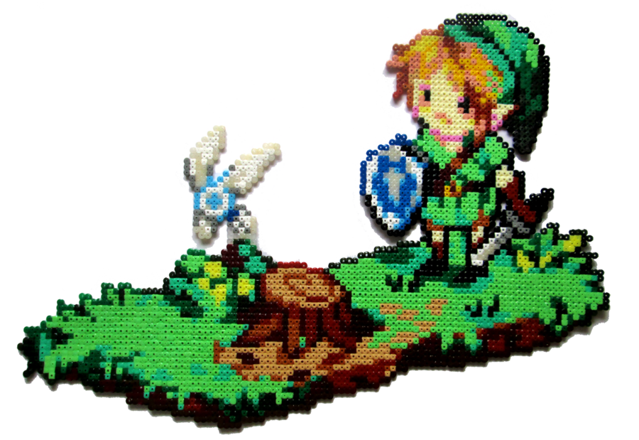This is my biggest project so far! The thing with pixel art is, it always looks so tiny and cute, but when reworked with beads, it becomes huuuuge It measures 50x36 cm (19.7x14.2 inch) and is based...