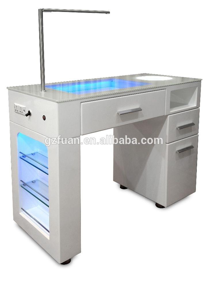 white nail table manicure table TKN-125L | Mesa para manicura ...