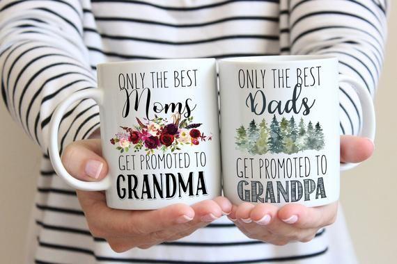 Nur die besten Mama Papa zu Oma und Opa Kaffeetasse Set befördert
