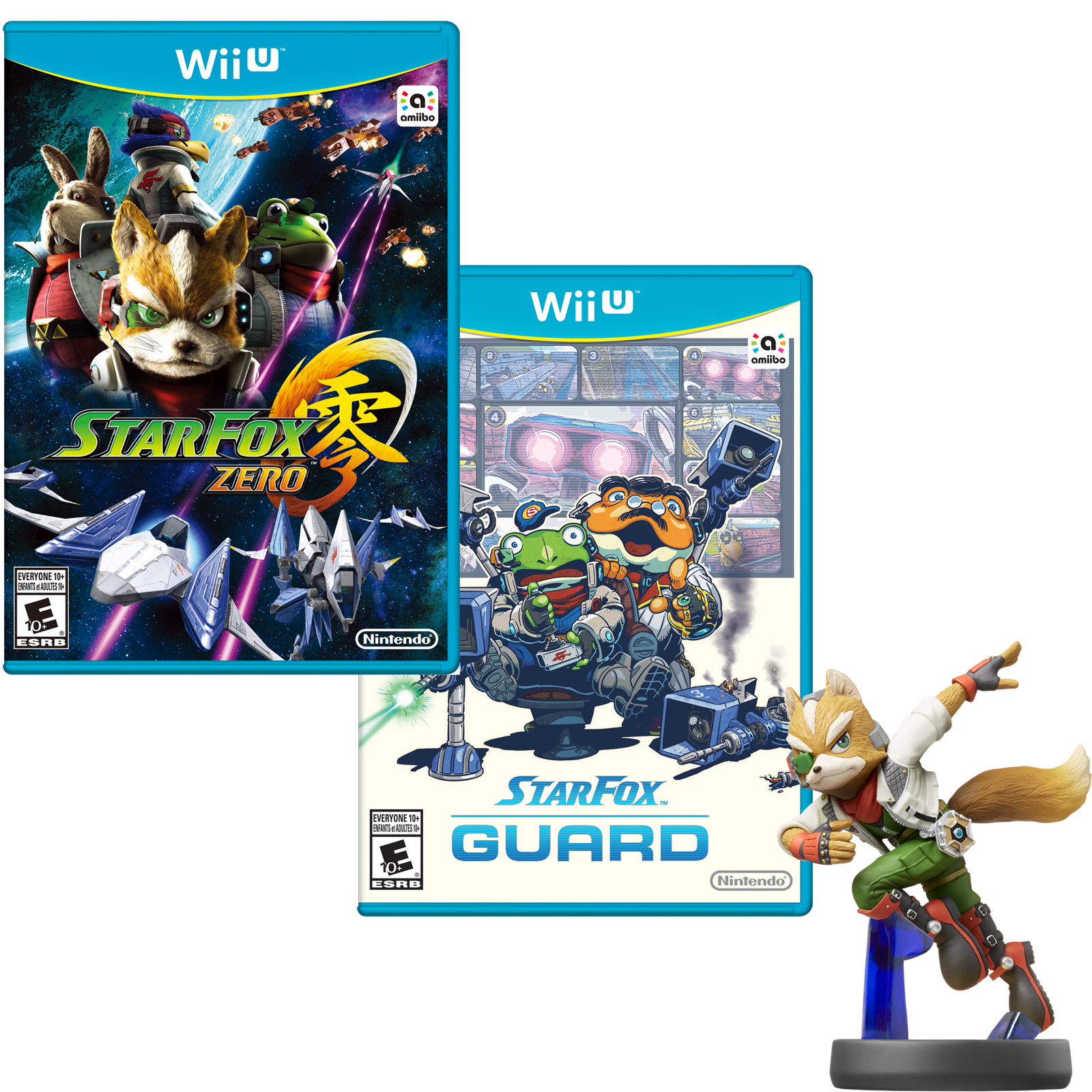 Star Fox Zero Star Fox Guard Fox Amiibo Bundle Wii U Buy Direct From Nintendo Star Bundle Amiibo Guard Zero Star Fox Amiibo Wii U