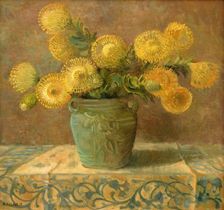 Protea, Meredith Brooks Abbott; 2014; Oil on canvas