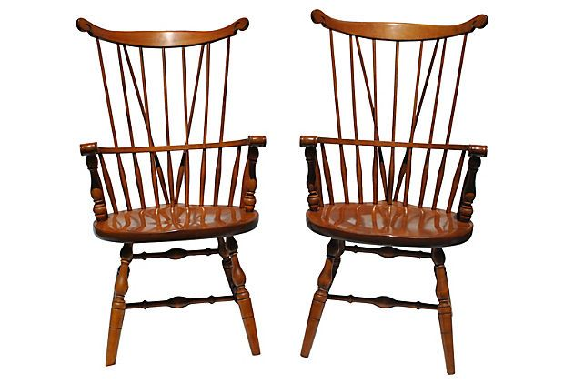 Windsor Comb Back Armchairs, Pair on OneKingsLane For My