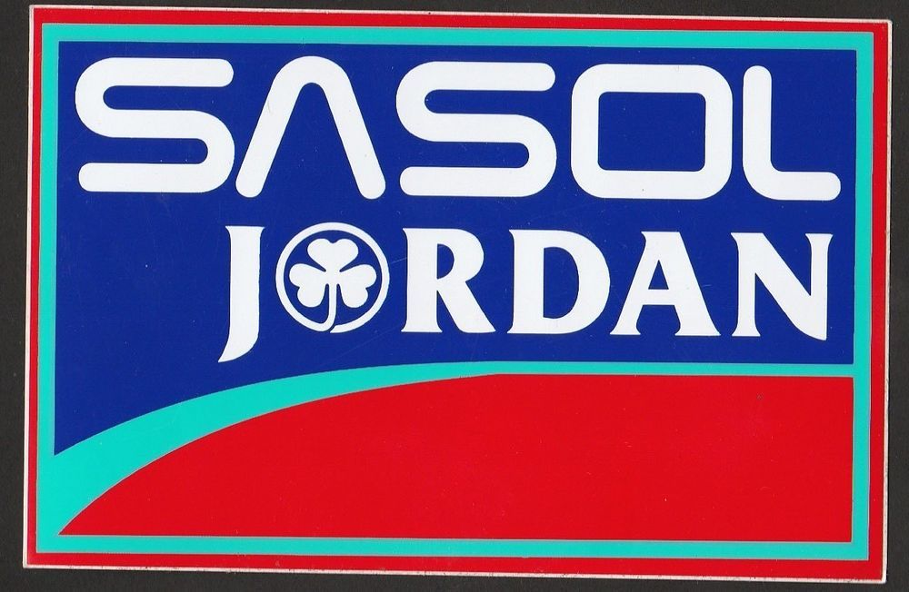 Sasol jordan f1 team 192 193 194 irvine original period race gp sticker adesivo
