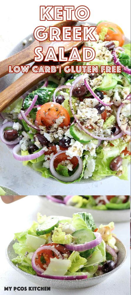 Authentic Greek Salad - Low Carb & Gluten Free - My PCOS Kitchen