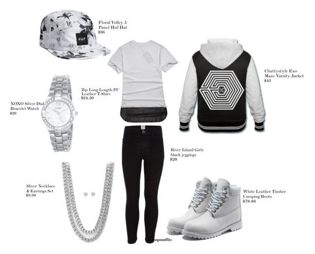 exo by chichi23 on Polyvore featuring polyvore fashion style XOXO River Island Pyrex