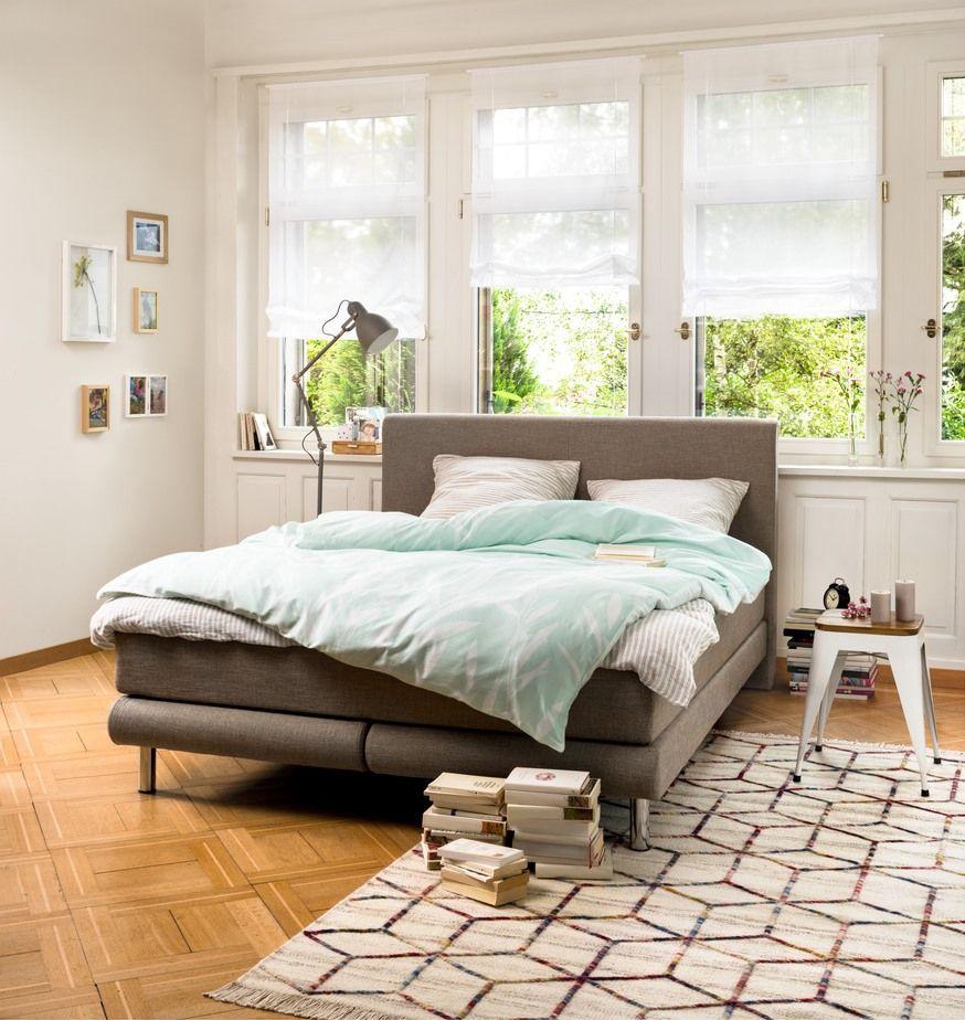 Micasa Schlafzimmer Mit Boxspringbett MOULIN Und Hocker RIGO