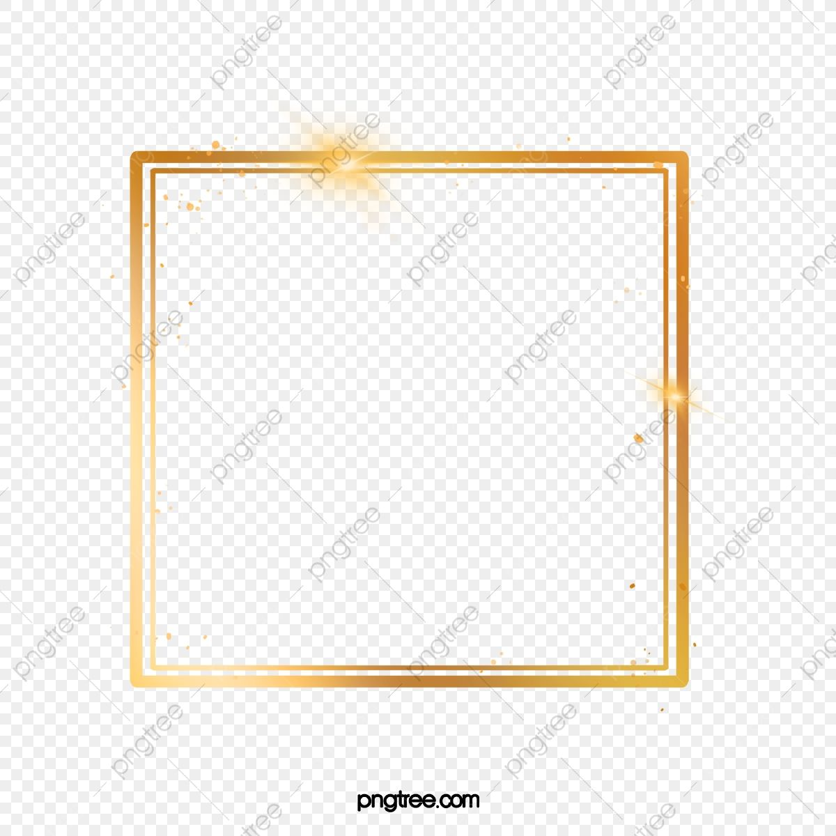 Golden Effect Decoration Square Frame Frame Golden Luminous Efficiency Png Transparent Clipart Image And Psd File For Free Download In 2020 Square Frames Clip Art Graphic Design Background Templates
