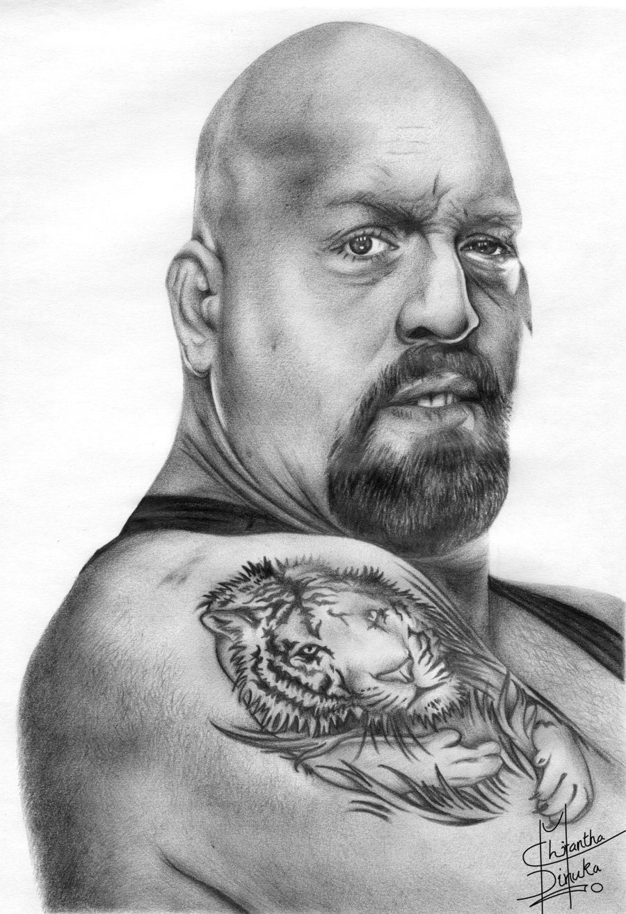 Uncategorized Wwe Drawing Pictures pencil sketches drawings big show drawing by chirantha traditional